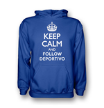 Keep Calm And Follow Deportivo Hoody (blue)