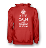 Keep Calm And Follow Arsenal Hoody (red) - Kids