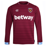2018-2019 West Ham Long Sleeve Home Football Shirt