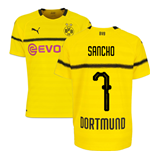 2018-19 Borussia Dortmund Home UCL Football Shirt (Sancho 7)