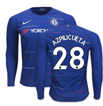 2018-2019 Chelsea Home Nike Long Sleeve Shirt (Azpilicueta 28)