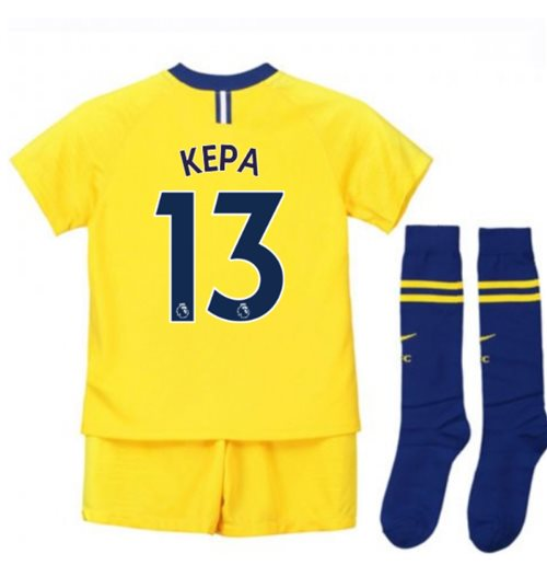 2018-2019 Chelsea Away Nike Little Boys Mini Kit (Kepa 13)