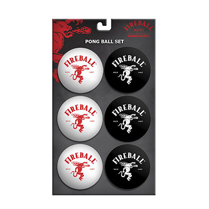 FIREBALL WHISKEY Set of Beer Pong Balls