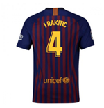 2018-2019 Barcelona Vapor Match Home Nike Shirt (I Rakitic 4)