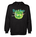 Rick and Morty Hooded Sweater Black Portal
