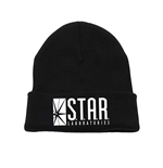 The Flash Tv - Star Labs Logo Beanie - Headwear Black