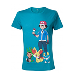 POKEMON: Green With Print T-shirt (Unisex)