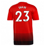 2018-2019 Man Utd Adidas Home Football Shirt (Shaw 23) - Kids