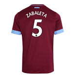 2018-2019 West Ham Home Football Shirt (Zabaleta 5)