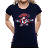 Looney Tunes - ANTI-FOOTBALL - Women Fitted T-shirt Blue