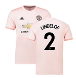 2018-2019 Man Utd Adidas Away Football Shirt (Lindelof 2)