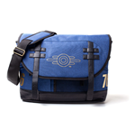 FALLOUT 76 Vault-tec Logo Messenger Bag, Unisex, One Size, Blue/Black