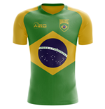 2018-2019 Brazil Flag Concept Football Shirt (Kids)