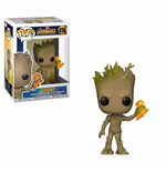 Avengers Infinity War POP! Movies Vinyl Figure Groot with Stormbreaker 9 cm