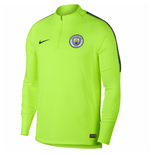 2018-2019 Man City Nike Training Drill Top (Volt)