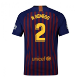 2018-2019 Barcelona Home Nike Football Shirt (N Semedo 2)