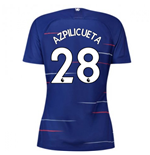 2018-2019 Chelsea Home Nike Ladies Shirt (Azpilicueta 28)