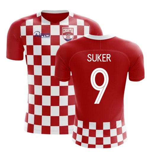 2018-2019 Croatia Flag Concept Football Shirt (Suker 9)