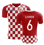 2018-2019 Croatia Flag Concept Football Shirt (Lovren 6) - Kids