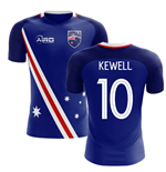 2018-2019 Australia Flag Away Concept Football Shirt (Kewell 10)