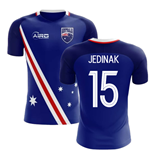 2018-2019 Australia Flag Away Concept Football Shirt (Jedinak  15)