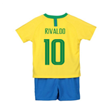 2018-2019 Brazil Home Nike Little Boys Mini Kit (Rivaldo 10)