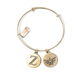 NINTENDO Legend of Zelda Z & Royal Crest Logos Charm Bracelet, Female, Gold