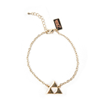 NINTENDO Legend of Zelda Triforce Logo Charm Bracelet, Female, Gold
