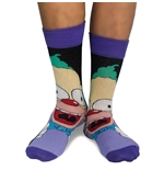 The Simpsons 2 Pairs of Socks Krusty The Clown