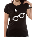 Harry Potter - Glasses Fitted - Women Fitted T-shirt Black