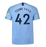 2018-2019 Man City Home Nike Football Shirt (Toure Yaya 42)
