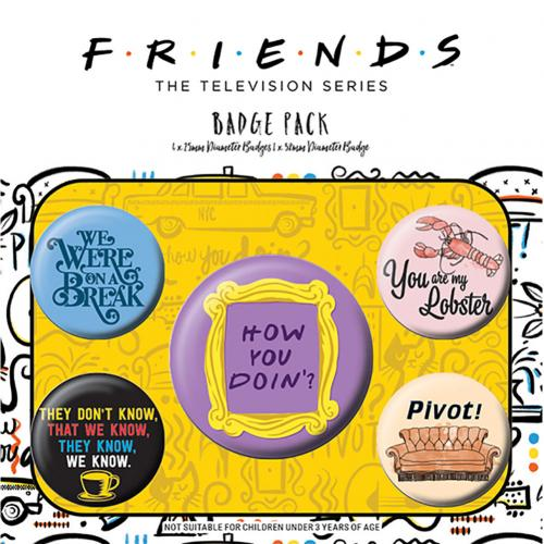 Friends Button Badge Set