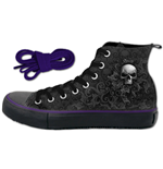Skull Scroll - Sneakers - Ladies High Top Laceup