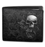 Skull Scroll - BiFold Wallet with RFID Blocking and Gift Box