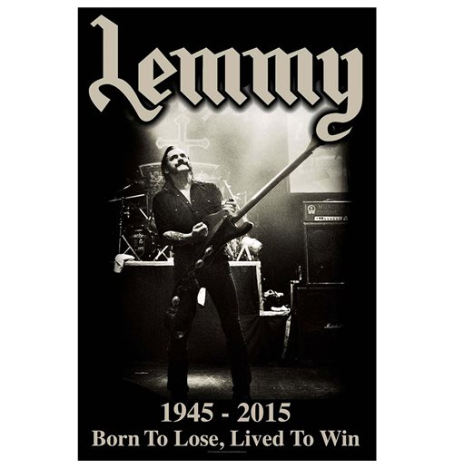 Lemmy Textile Poster: Lived to Win