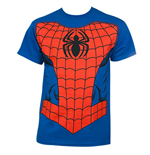 SPIDERMAN Suit Costume Halloween Royal Blue Graphic Tee Shirt