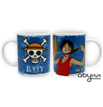 One Piece - Mug - 320 Ml - Luffy & Emblem  - Porcl. With Box