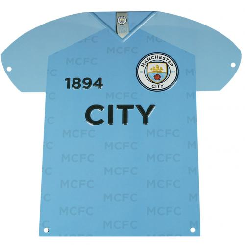 Manchester City F.C. Metal Shirt Sign