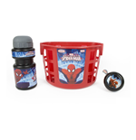 MARVEL COMICS Ultimate Spider-man Bike Basket, Water Bottle and Bell Accessories Pack