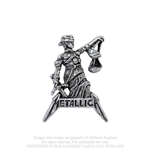 Metallica Pin Badge: Justice For All