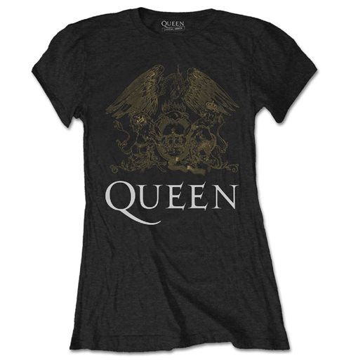 Queen Ladies Tee: Crest