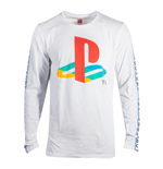 SONY Playstation Taping Long Sleeve Shirt, Male, White