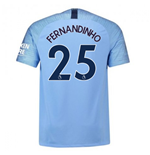 2018-2019 Man City Nike Vapor Home Match Shirt (Fernandinho 25)