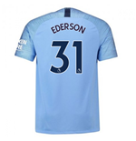 2018-2019 Man City Home Nike Football Shirt (Ederson 31)