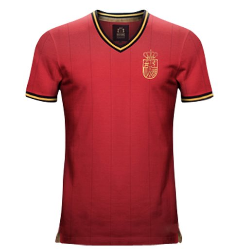 Vintage Spain Home Soccer Jersey
