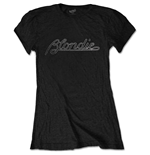 Blondie Ladies Tee: Logo (Diamante)
