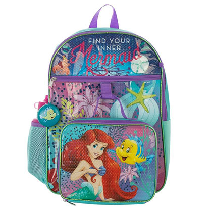 LITTLE MERMAID 5-Piece Backpack Set