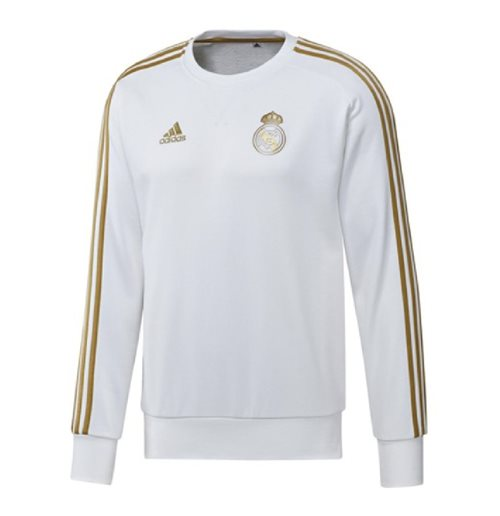 2019-2020 Real Madrid Adidas Sweat Top (White)
