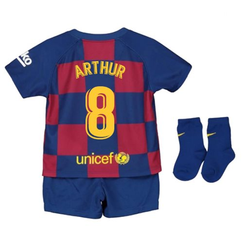 cheaper bc23e bd268 2019-2020 Barcelona Home Nike Baby Kit (ARTHUR 8)