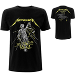 Metallica Unisex Tee: And Justice For All Tracks (Back Print)